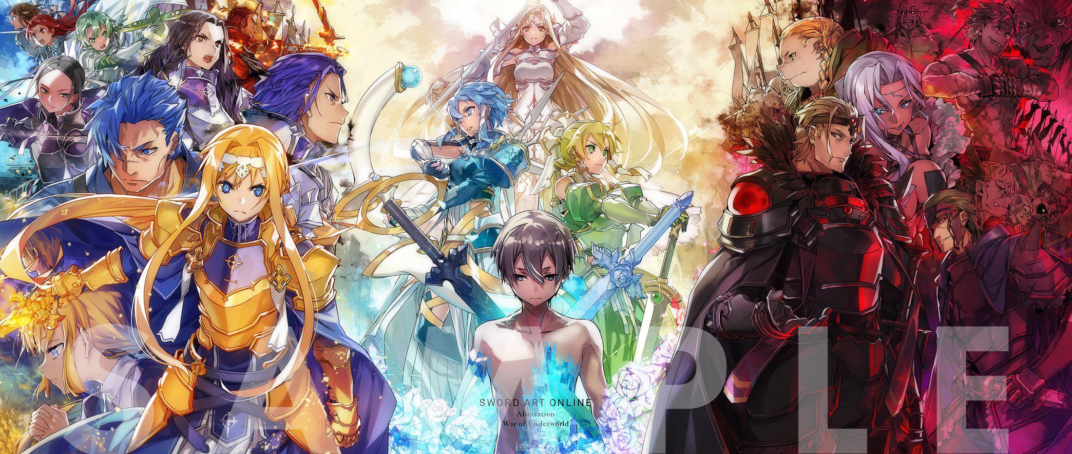 Ilustração por abec da BOX de Sword Art Online: Alicization – War of Underworld