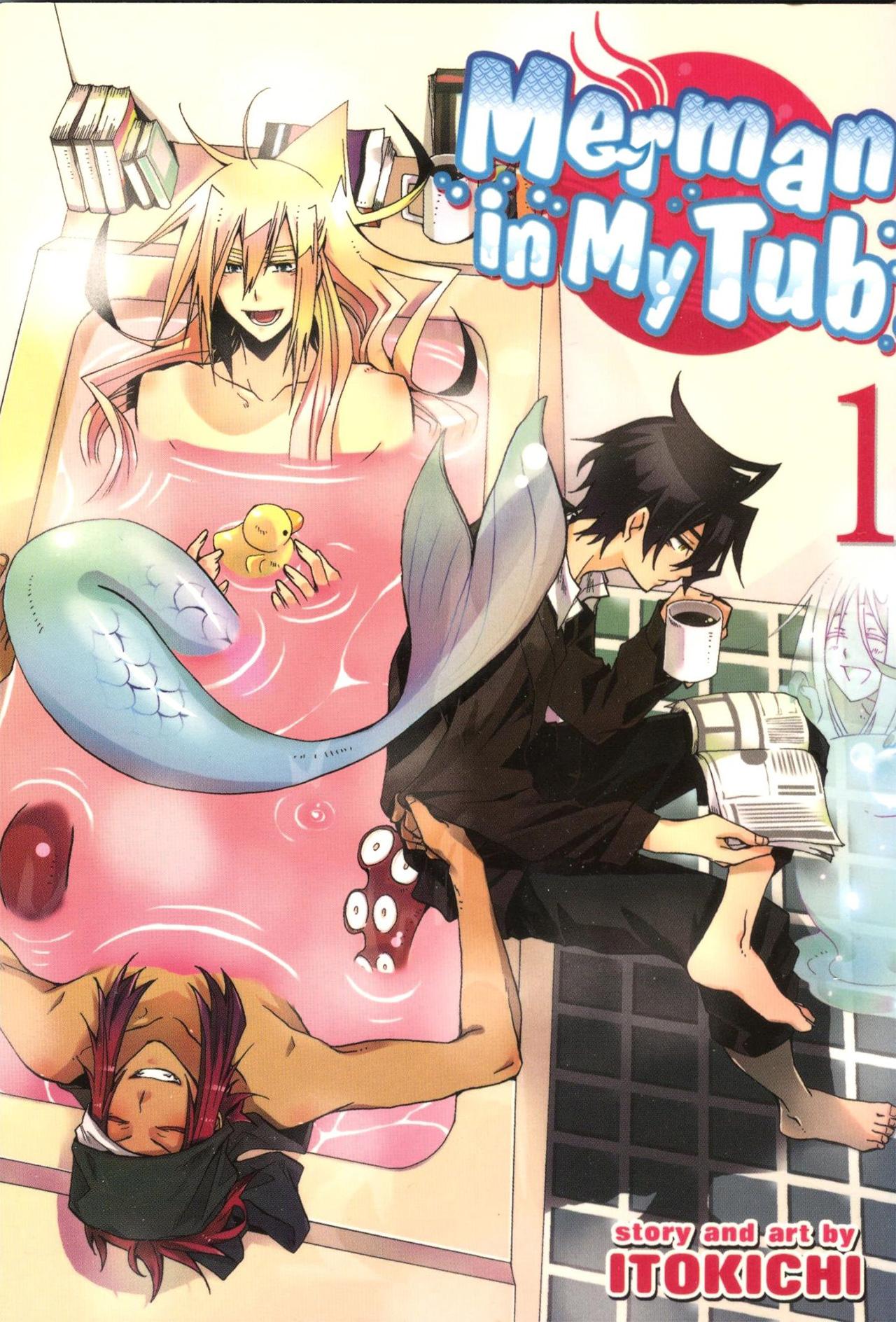 Capa do volume 1 de Orenchi no Furo Jijou (Merman in My Tub)