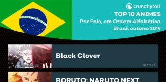 10 animes mais vistos no Brasil na temporada de Outono 2019 na Crunchyroll