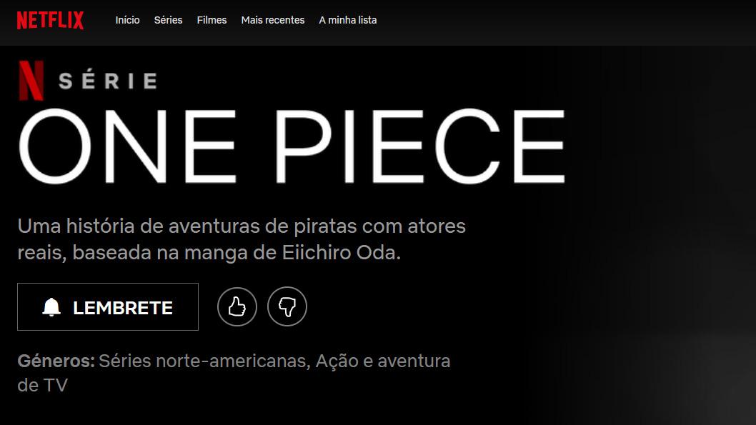 live-action de One Piece na Netflix vai ter 10 episódios