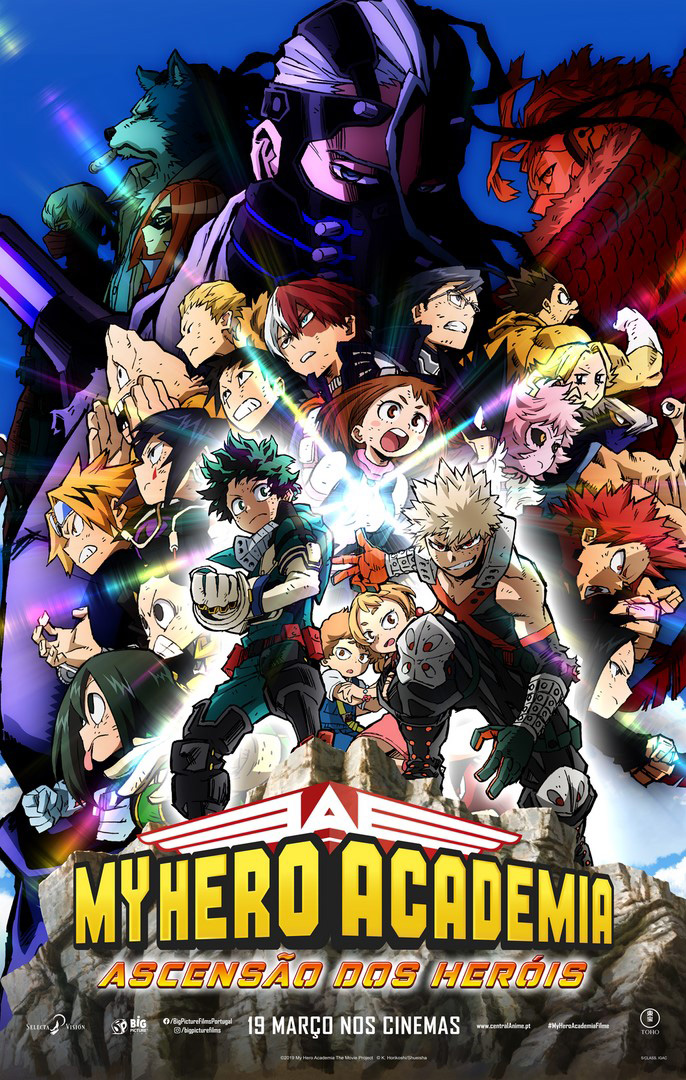Este é o Poster português de My Hero Academia: Ascensão dos Heróis