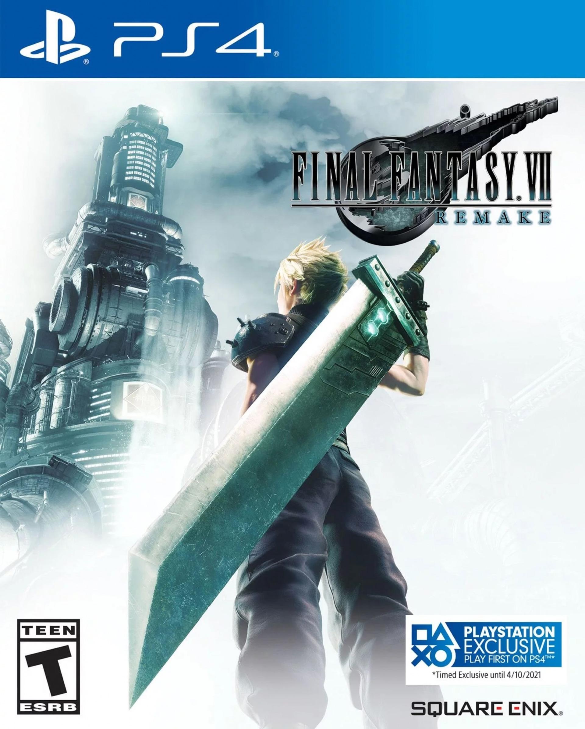 Final Fantasy VII Remake é exclusivo PS4 até Abril de 2021