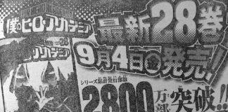 Mangá My Hero Academia com 28 milhões de cópias